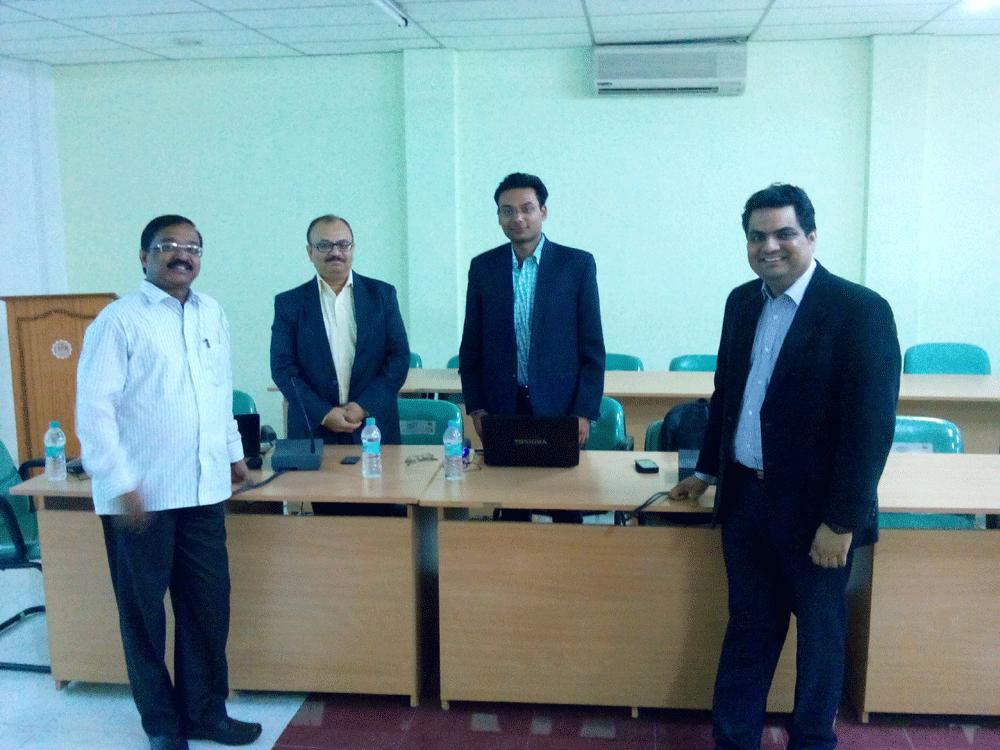 Serosoft's COO Siddharth Badjatya with KL University Team